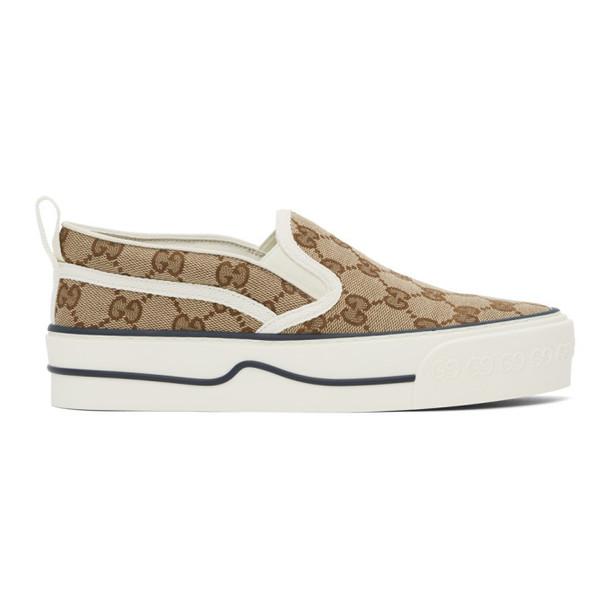 Gucci Beige Gucci Tennis 1977 Slip-On Sneakers
