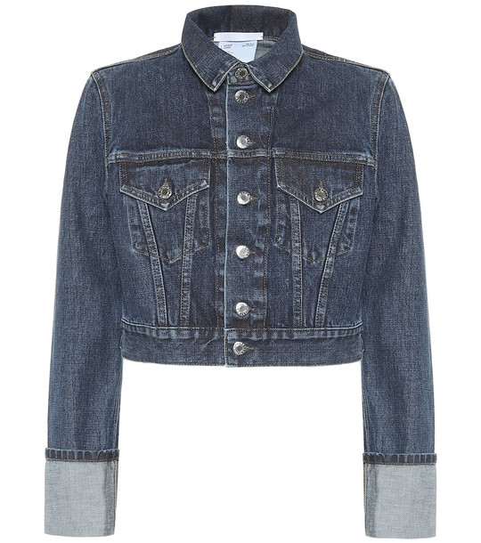 Helmut Lang Cropped denim jacket in blue