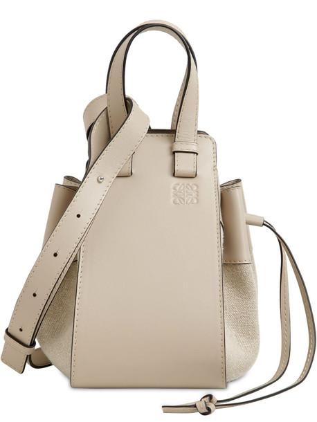 LOEWE Small Hammock Canvas & Leather Bag