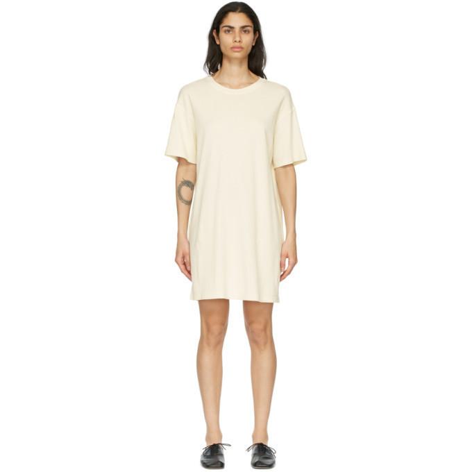 Raquel Allegra Beige T-Shirt Dress in cream