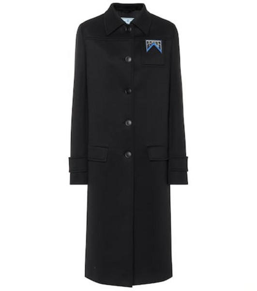 Prada Neoprene coat in black