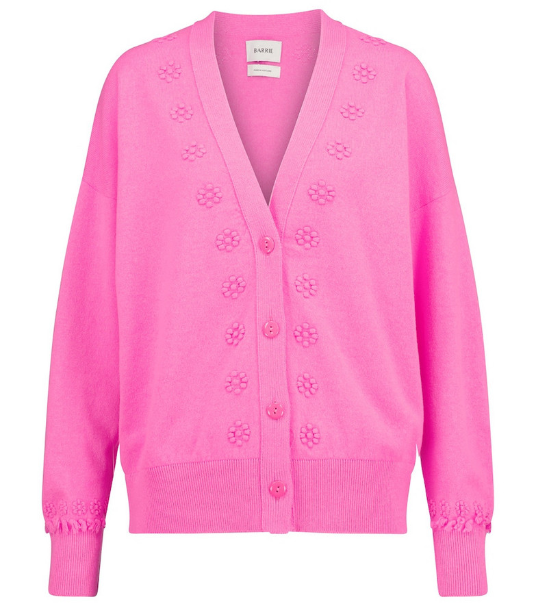 Barrie Cashmere cardigan in pink