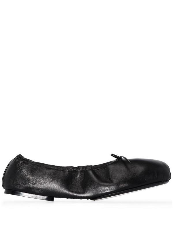 Khaite Ashland leather ballet flats in black