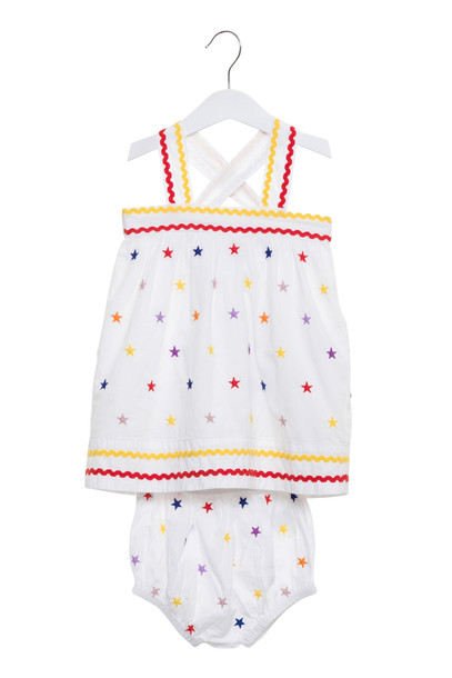 Stella McCartney Embroidery Stars Dress in multi