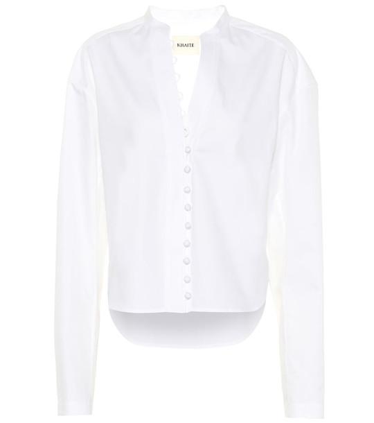 Khaite Charlotte cotton top in white