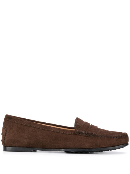 Tod's City Gommino suede shoes in brown
