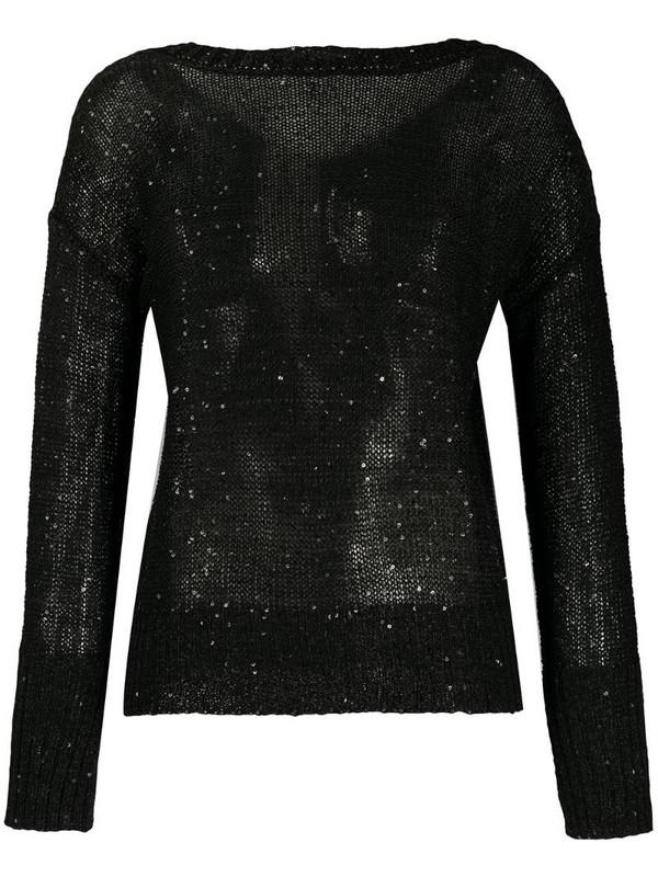 Snobby Sheep sequin embellished jumper in black