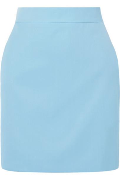 House of Holland - Grain De Poudre Mini Skirt - Sky blue