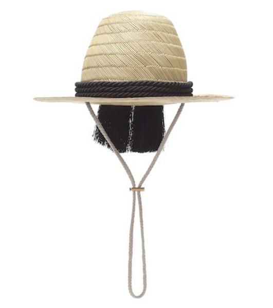 Gucci Embellished straw hat in beige