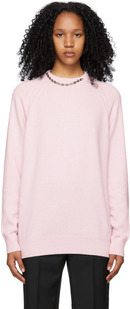 Givenchy Pink Cashmere Chain Collar Sweater