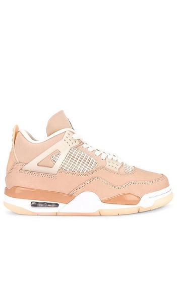 Jordan Air Jordan 4 Retro Sneaker in Cream in metallic / silver