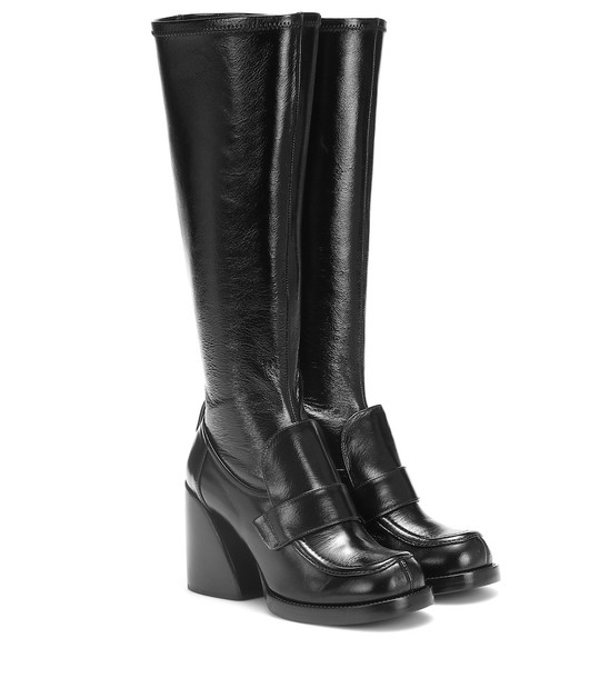 Chloé Adelie leather boots in black