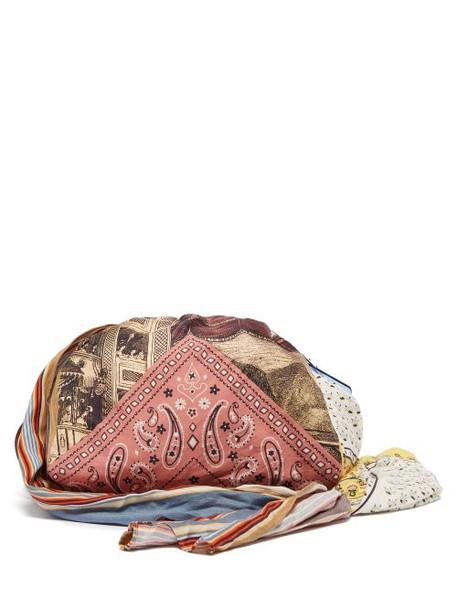 Acne Studios - Patchwork Printed Twill Shoulder Bag - Womens - Pink Multi