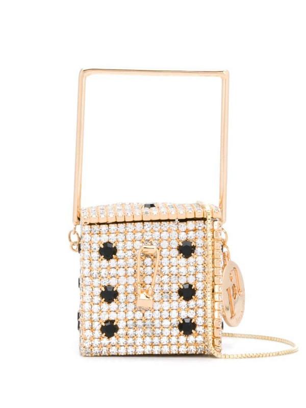 Rosantica Smorfia embellished mini bag in gold