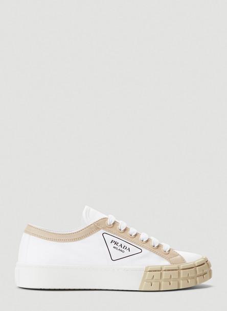 Prada Canvas Sneakers in White size EU - 41