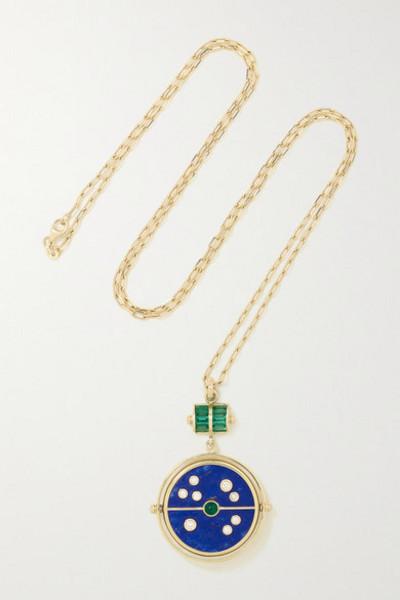 Retrouvaí Retrouvaí - Grandfather Compass 14-karat Gold Multi-stone Necklace