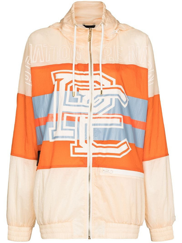 P.E Nation Score Runner hooded jacket in orange