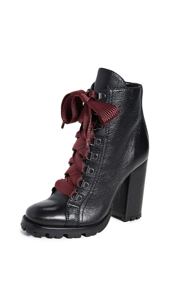 Schutz Zara Lug Sole Boots in black