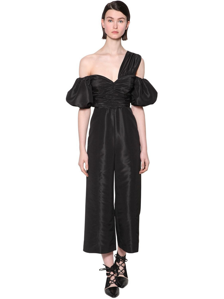 SELF-PORTRAIT Taffeta Jumpsuit in black