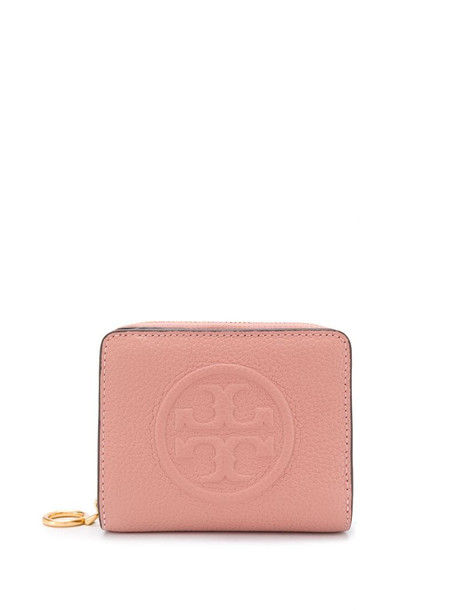 Tory Burch embossed logo purse in pink