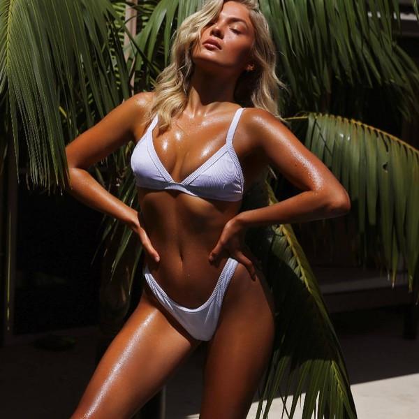bikini top white bikini top swimwear