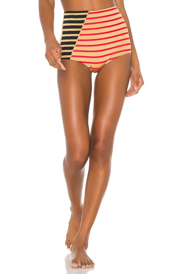 TM Rio de Janeiro Milagres Racer Hot Pant Bikini Bottom in gold / metallic