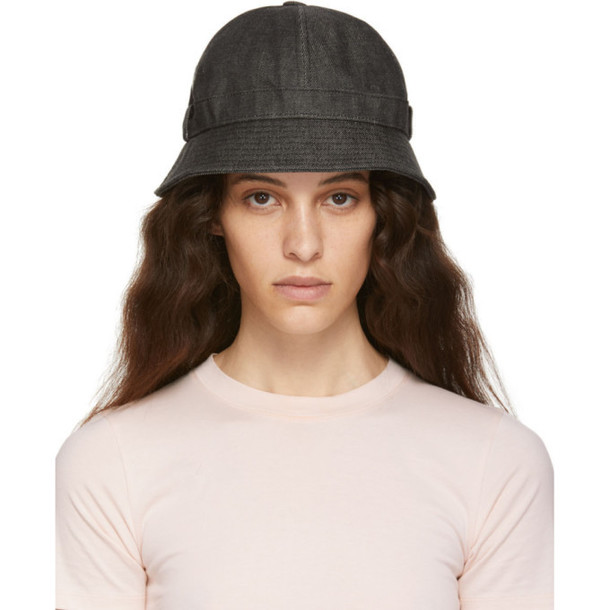 Acne Studios Black Blå Konst Denim Alvy Bucket Hat