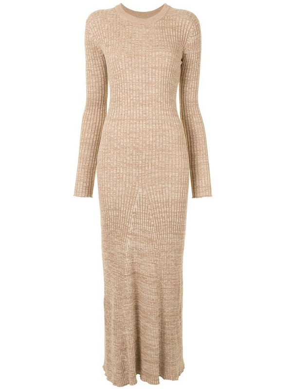 Anna Quan fitted knit dress in brown