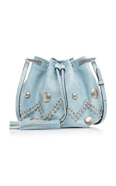 Isabel Marant Kylio Embellished Leather Bag in blue