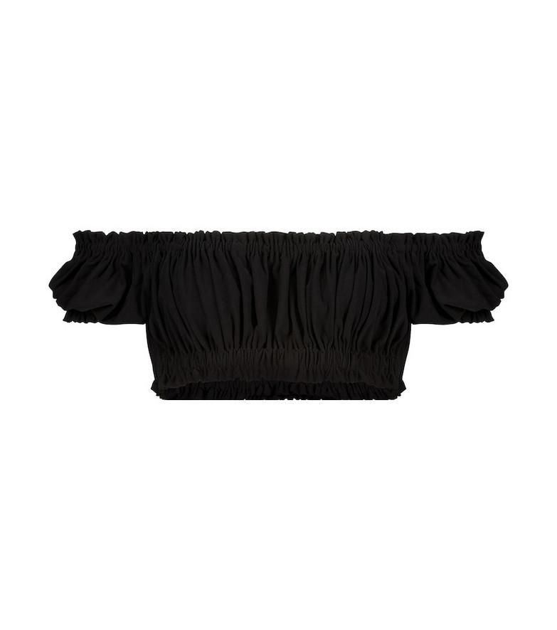 Norma Kamali Jose stretch-jersey crop top in black