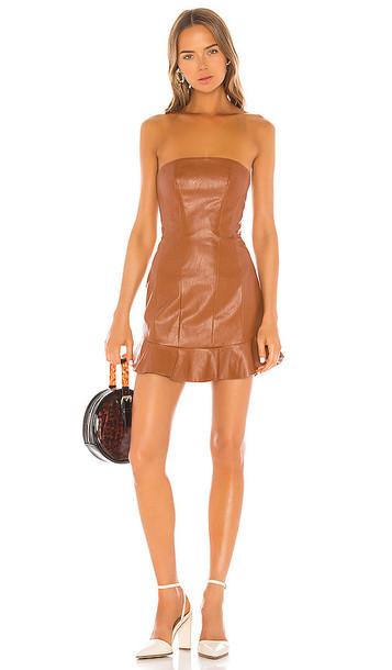 MAJORELLE Talan Mini Dress in Brown