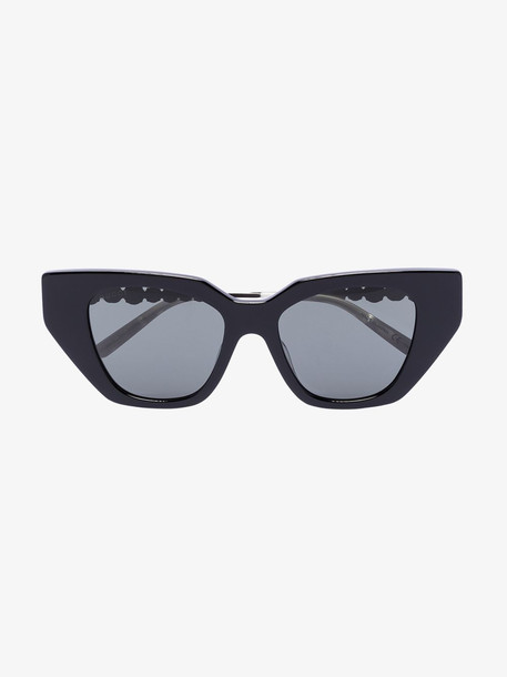 Gucci Eyewear black crystal temple cat eye sunglasses