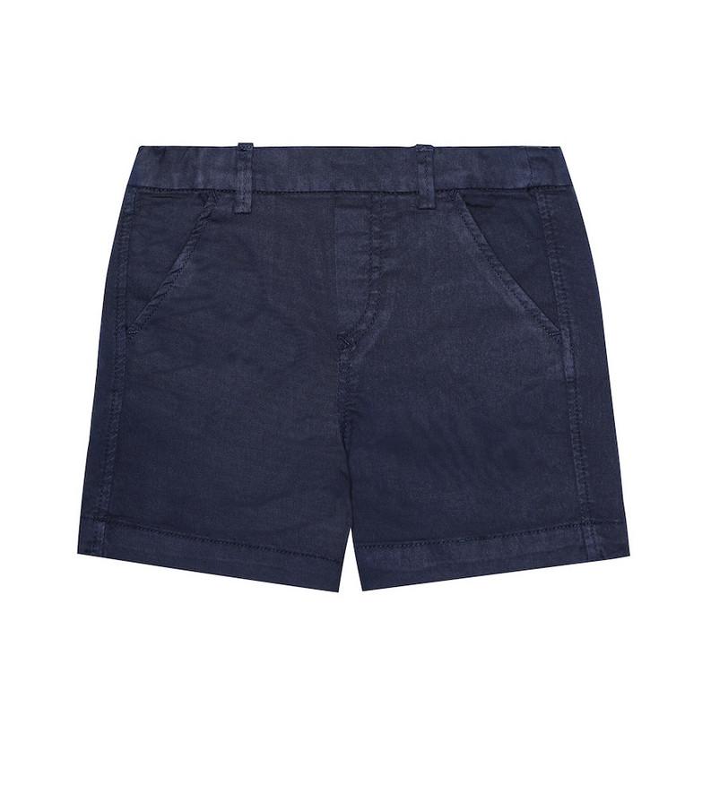 Tartine et Chocolat Baby cotton twill shorts in blue