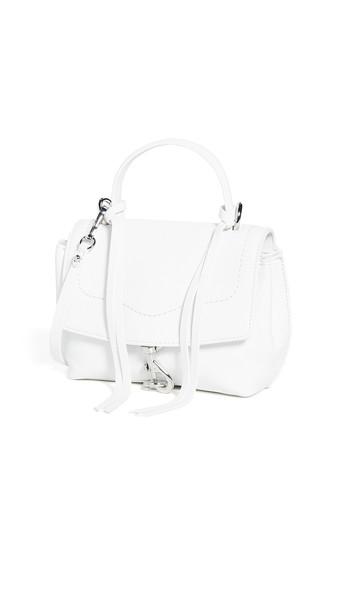 Rebecca Minkoff Stella Mini Flap Satchel Bag in white