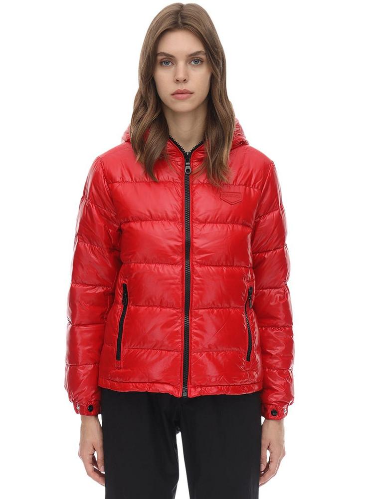 DUVETICA Kuma Nylon Down Jacket in red