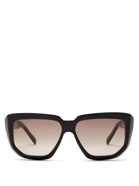 Celine Eyewear - D Frame Acetate Sunglasses - Womens - Black