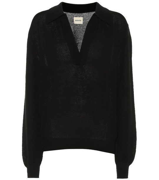 Khaite Jo stretch cashmere sweater in black
