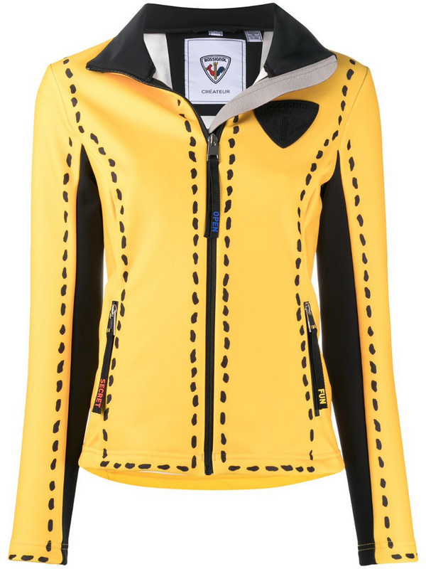 Rossignol logo patch spot detail jacket in yellow