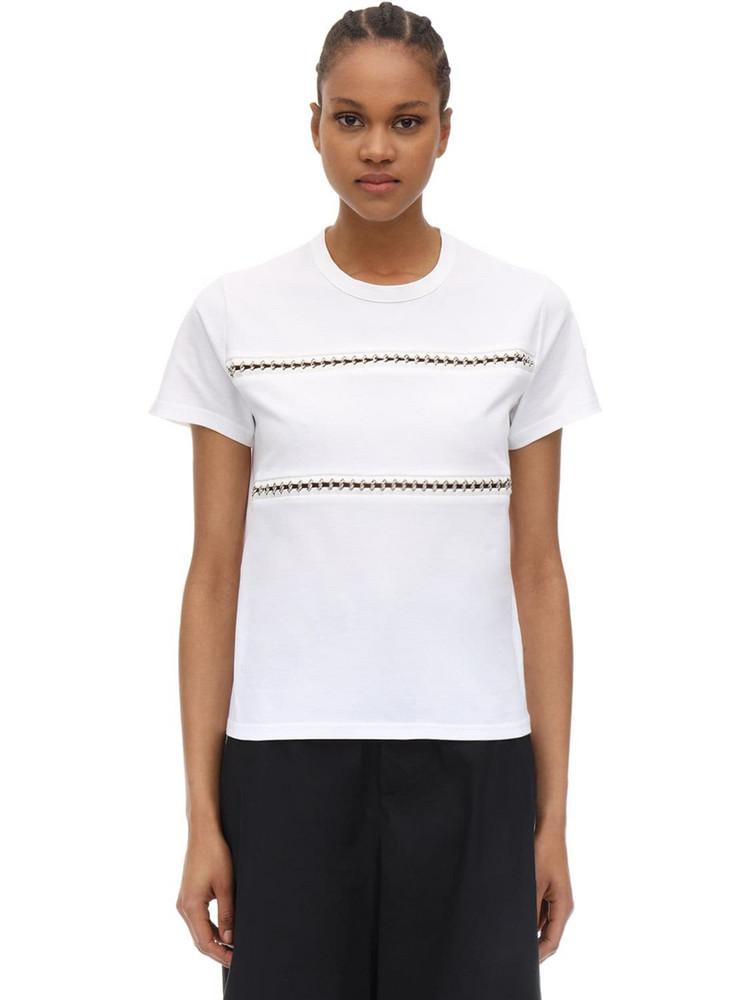 MONCLER GENIUS Noir Cotton Jersey T-shirt in white
