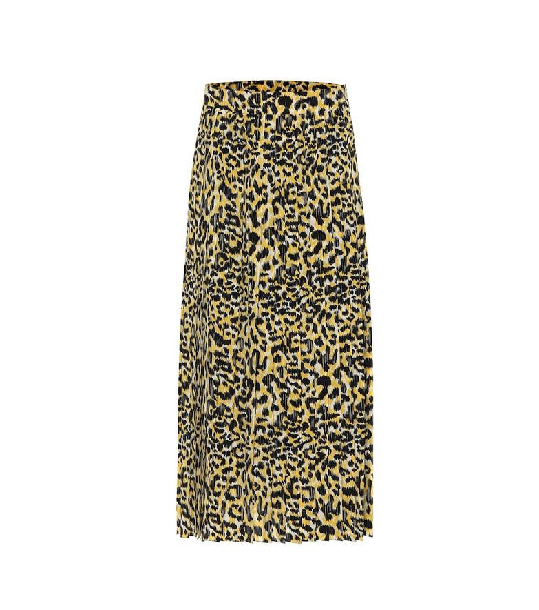 Gucci Leopard-print silk skirt in beige