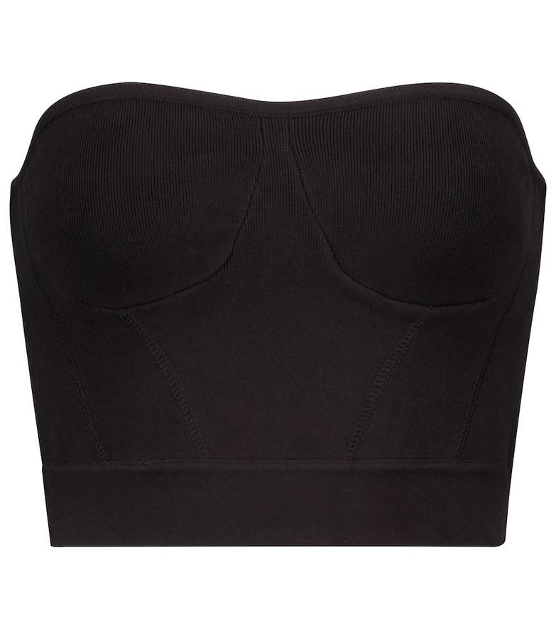 RtA Nour stretch-cotton bustier in black