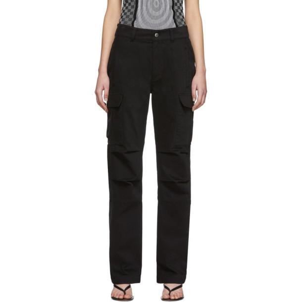 alexanderwang.t Black Twill Cargo Trousers