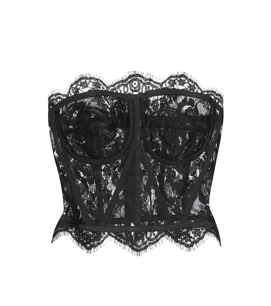 Dolce & Gabbana Lace bustier top in black