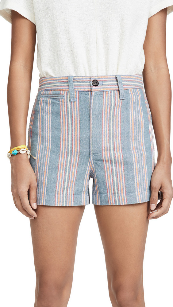 Madewell Emmett Shorts With Patch Pockets in blue