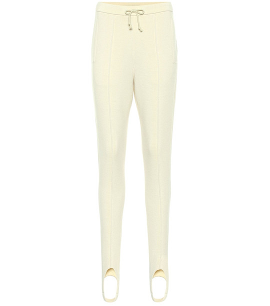 Undercover Wool stirrup pants in white