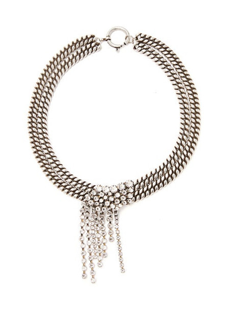 Isabel Marant - Crystal Strand Double Chain Necklace - Womens - Crystal