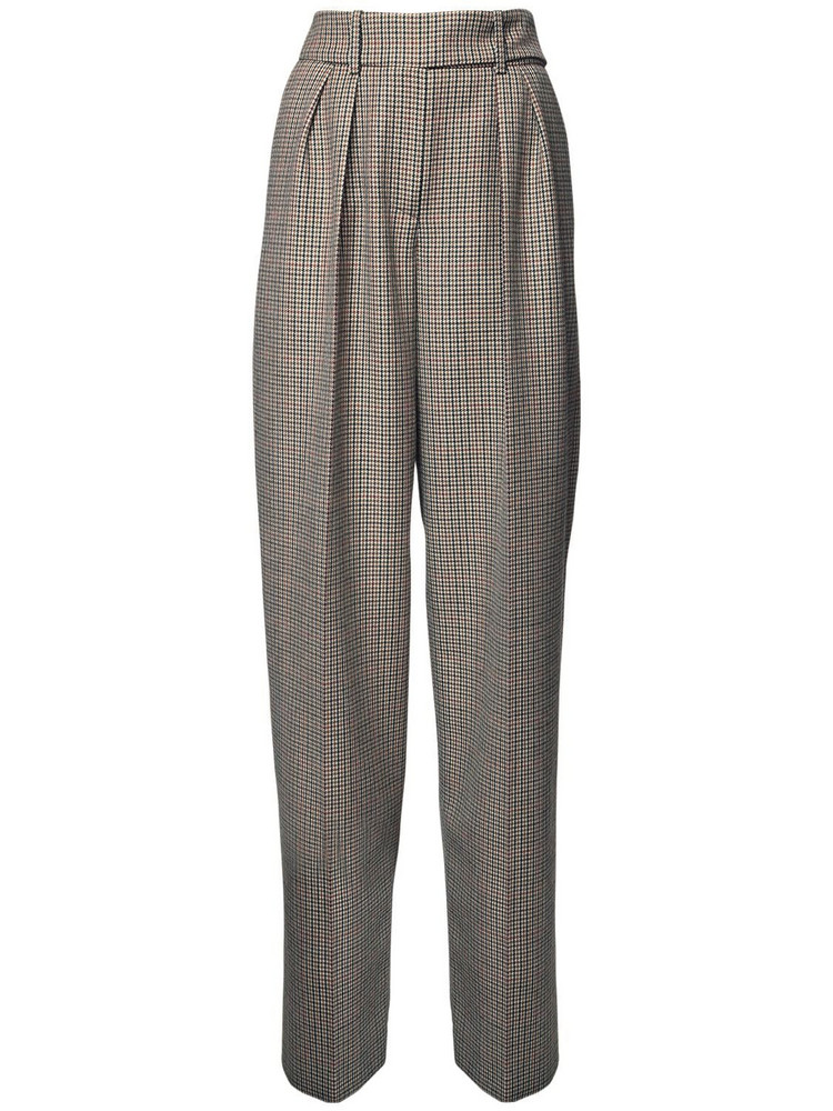 ALEXANDRE VAUTHIER High Waist Prince Of Wales Wide Pants in black / beige