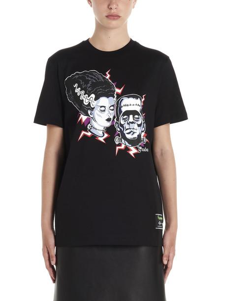 Prada couple T-shirt in black
