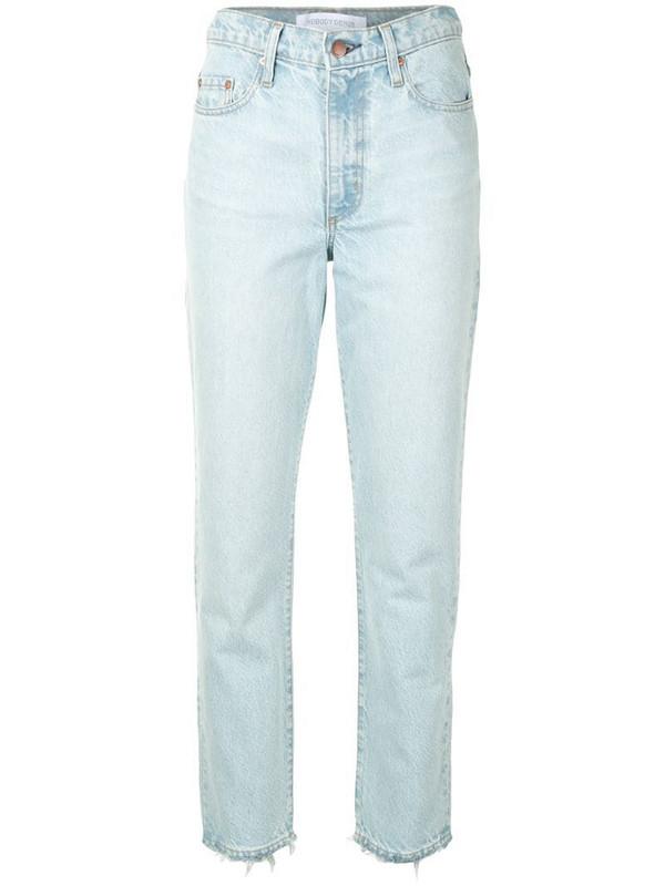 Nobody Denim high rise Bessette slim jeans in blue