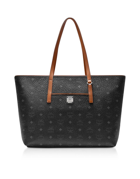 Mcm Anya Medium Shopping Bag in black